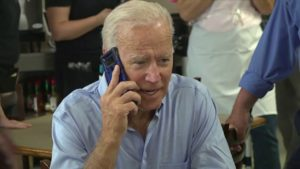 Joe Biden on phone