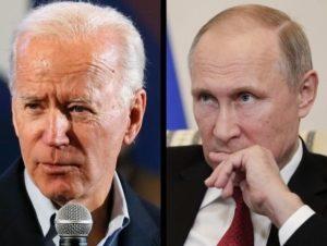 Joe Biden and Vladimir Putin feature