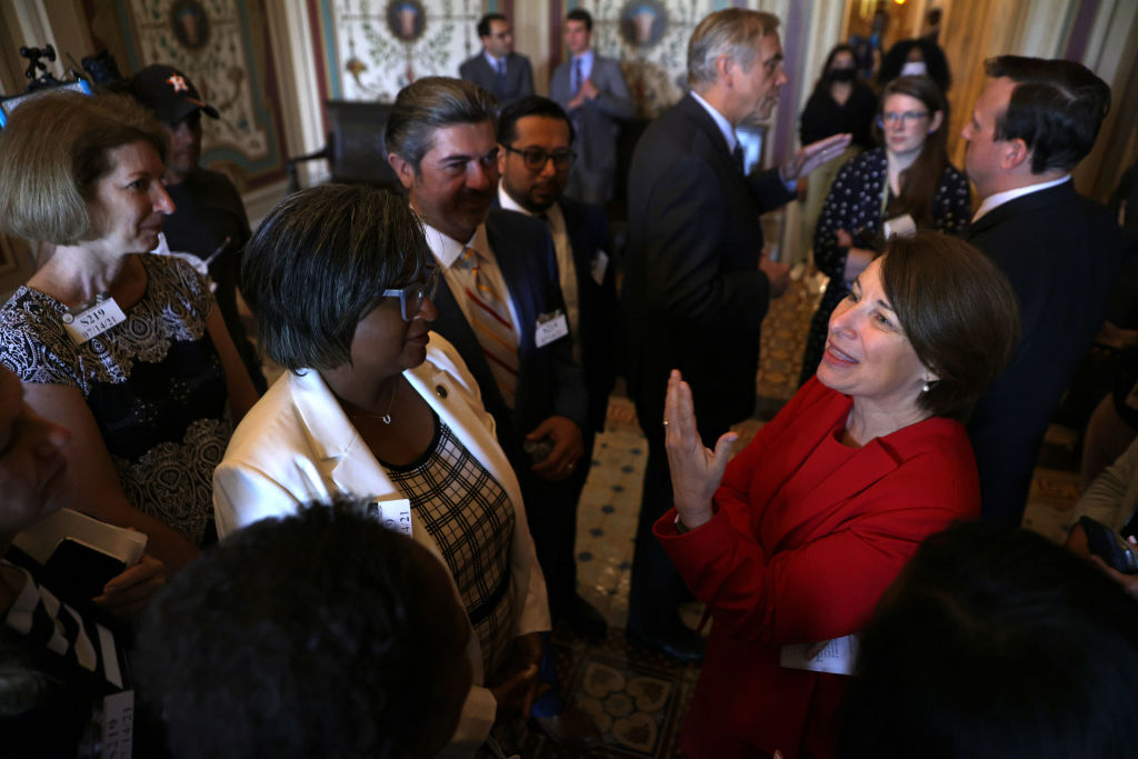Texas House Democrats Meet With Lawmakers On Capitol Hill